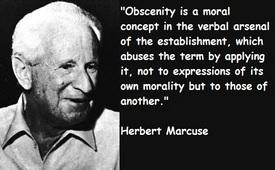 Herbert Marcuse - «Il concetto di oscenità appartiene al lessico dei poteri precostituiti…»