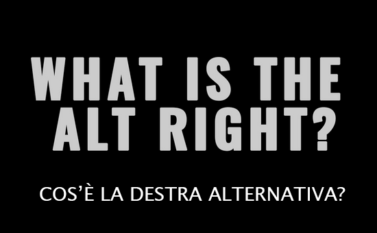 Alt Right. Destra Alternativa