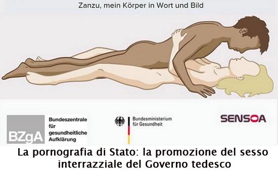 La pornografia di Stato: la promozione del sesso interrazziale del Governo tedesco.