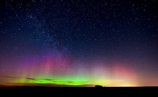 La volta celeste vista dalla Terra