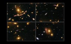 Alcune lontane galassie nello spazio profondo